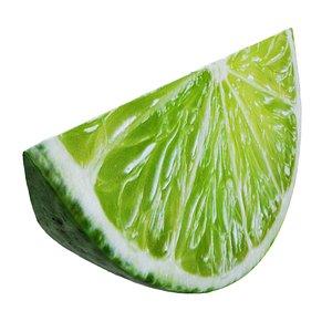 Lime slice 2 3D