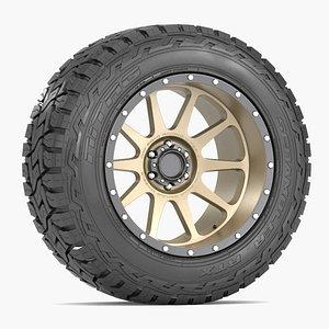 3D road wheel tire
