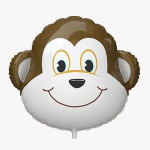 Decoration foil balloon 08 Monkey 3D model