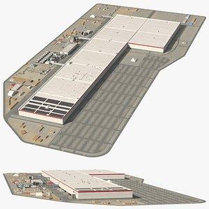 Tesla Giga Nevada Factory 3D