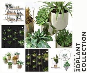 metal shelf planter hanging 3D model