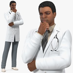 skin black male doctor 3D