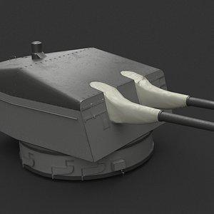 bismarck guns 3D