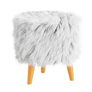 3D wool elson storage ottoman model