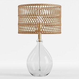 Teardrop Glass Table Lamp 3D model