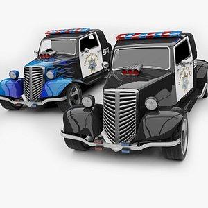 3D Unity 3D Generic HotRod RAT Police Car model