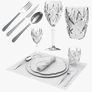 Tableware Place Setting Collection 3D