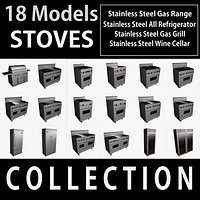 Collection Stoves Viking 18 3D models
