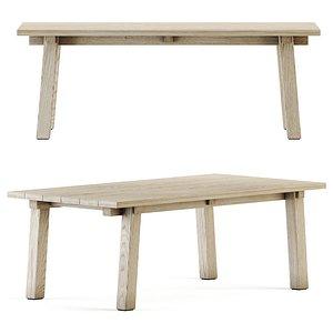 teaka table wood model