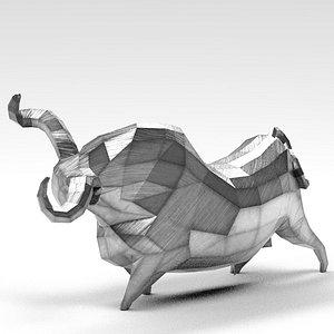 3D bull metal model