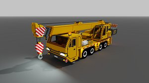 3D voxel truck crane vox