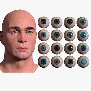 3D eye eyeball anatomy model