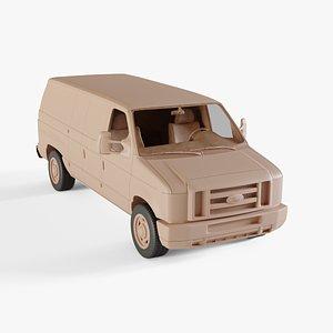 2011 Ford E-series Van 3D model