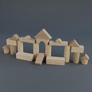 Wooden blocks - Toy 3D model