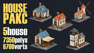 3D house urban city model