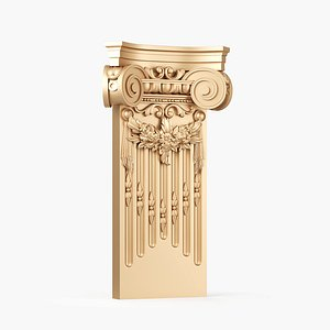 3D Carved Classical Capital model