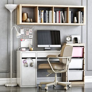 3D model office micke white