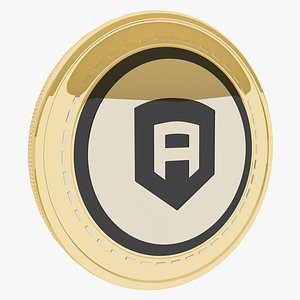 3D Abyss Token Cryptocurrency Gold Coin
