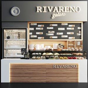 3D restaurants cafes model