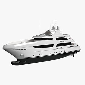 Heesen Book Ends Luxury Yacht 3D model
