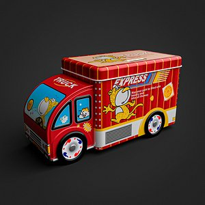 3D Piggy Bank  Truck Toy Low Poly