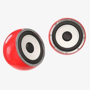 3D model desktop speaker
