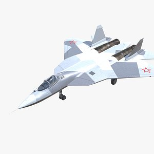 SU-57 Felon Jet Fighter Aircraft Low-poly 3D model