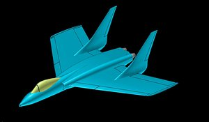 Vought F7U-3 Cutlas  REV Aircraft Solid Assembly Model model