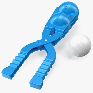 3D Double Snowball Maker Clip with Snowball model