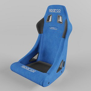 3D Sparco SPRINT L Sports Racing Seat Suede Blue model