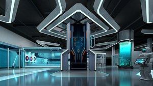 3D model Robot's Exhibition Hall