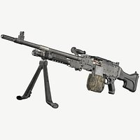 FN MAG M240 Machine Gun Game Ready