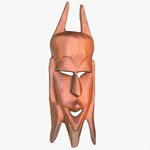 african mask 02 modeled 3D model