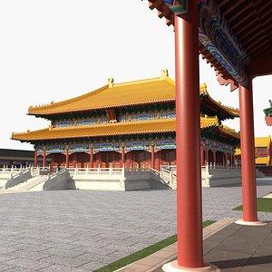 3D ancient hall
