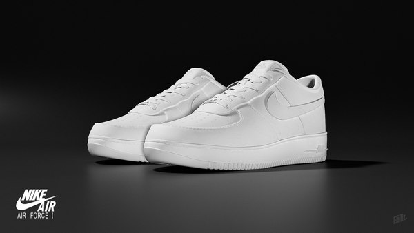 3D Nike Air Force 1 Low White - High quality 3D model