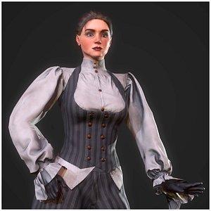 3D steampunk girl