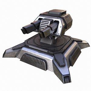 3D Sci-fi Turret model