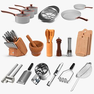 3D Kitchenware Collection 9 model