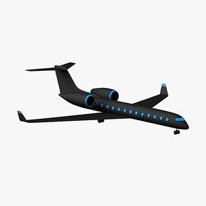 3D cartoon toon plane