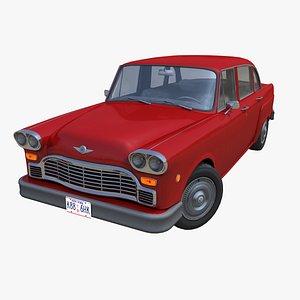 3D Classic american sedan PBR model