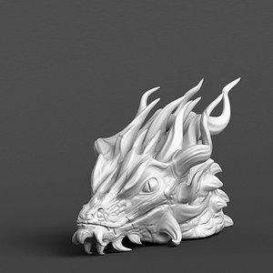 dragon head model