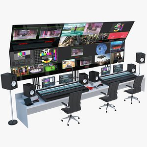 Television Broadcast Control Panel 3D model
