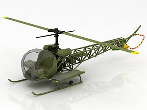 3D Bell H 13 Sioux United States Army model