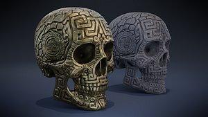 3D model Aztec Skull