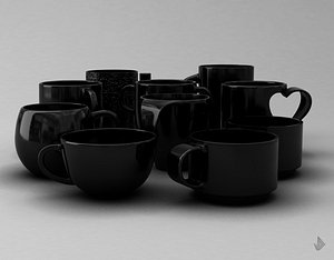 3D PRINT CUPS--Collection 001-010 model