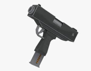 3D submachine guns model