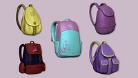 05 Girl Backpack Collection - Female Character