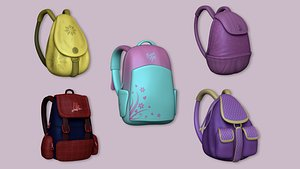 outfit backpack 3D