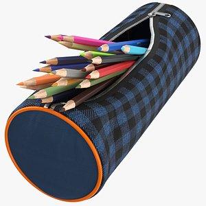 Open Pencil Case model