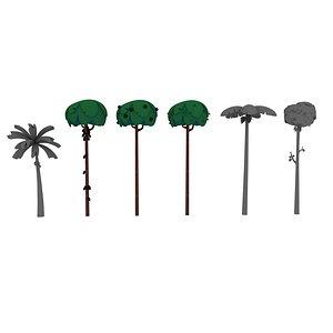 cartoon trees model